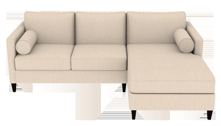Custom Mitchell Small Chaise Sofa   Right
