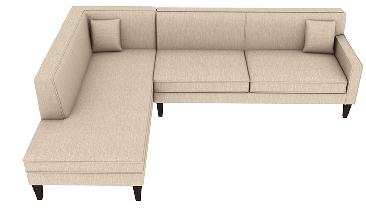 Custom Madison Large Chaise Lounge - Left | Cre8 a Couch