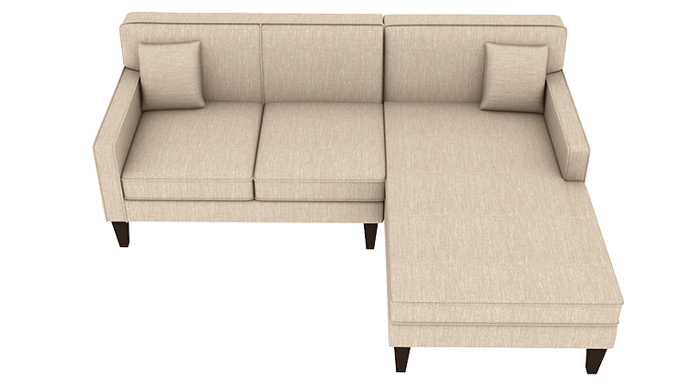 Custom Madison Small Chaise Sofa Right