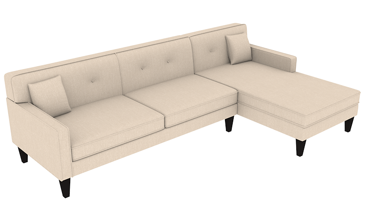 Custom Madelyn Large Chaise Sofa Right Cre8 A Couch