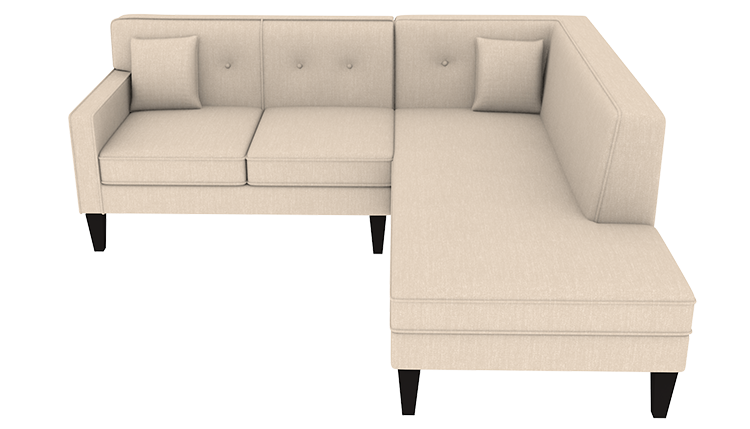 Custom Madelyn Small Chaise Lounge Right