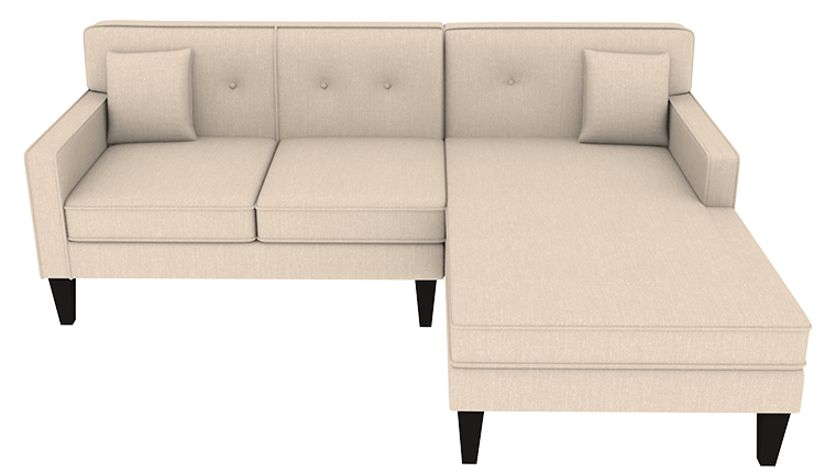 Outstanding Custom Madelyn Small Chaise Sofa Right Cre8 A Couch Machost Co Dining Chair Design Ideas Machostcouk