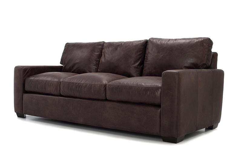 The Modern Vintage Blake Couch Has A Gorgeous 100% Italian Top Grain  Leather. The Distressing Of Color In The Outland Dark Brown Leather Should  Be Expected.
